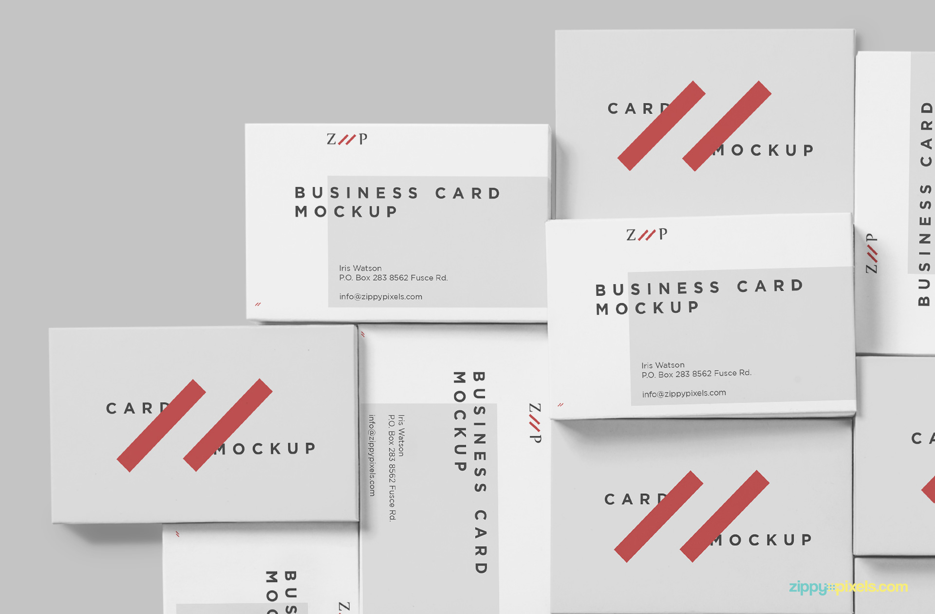 Attractive visiting cards mockup.