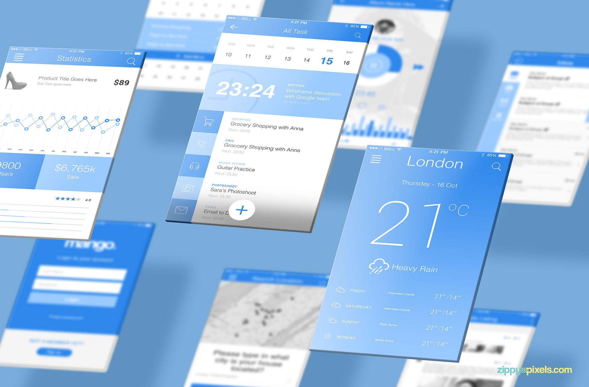Customize everything in this iOS mobile screen mockup.