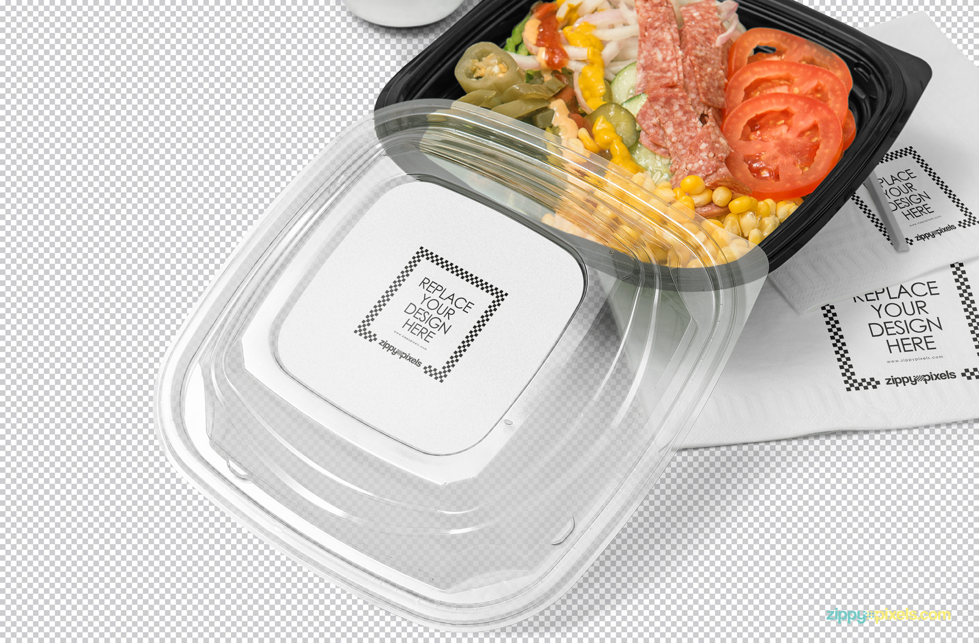 You can edit this PSD of food packaging mockup using Photoshop.