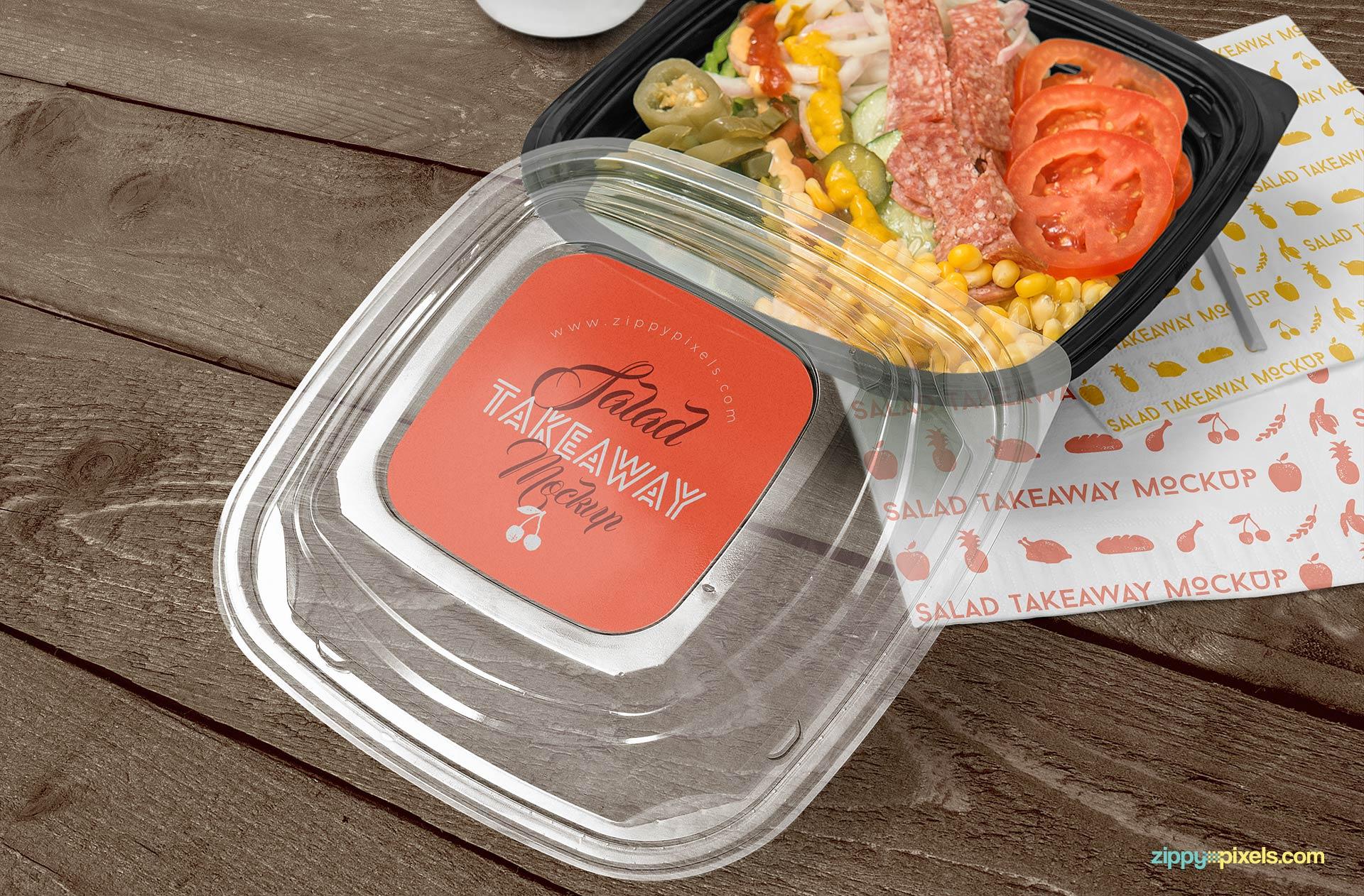 Free food box mockup.