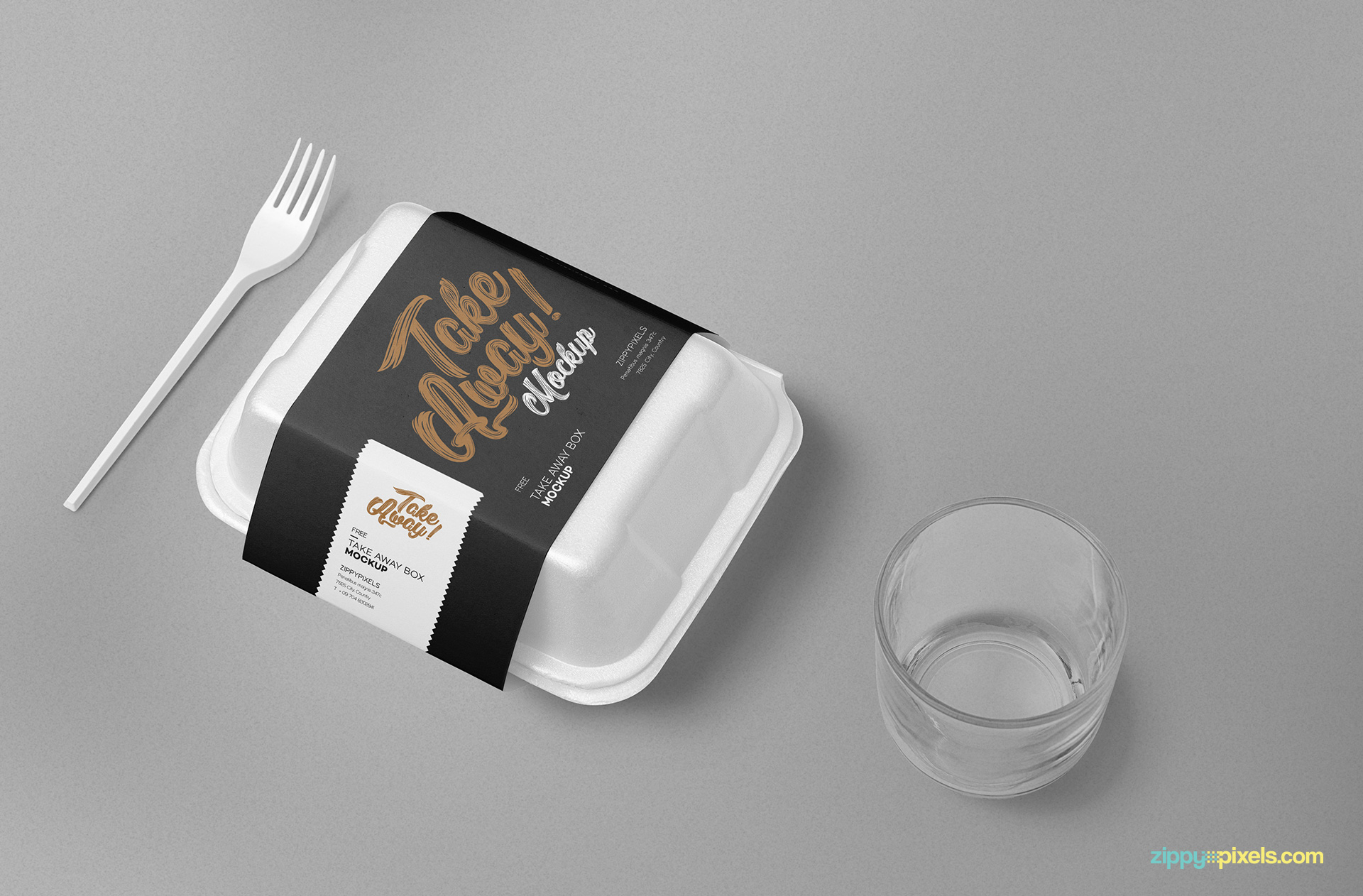 Free food packaging mockup.