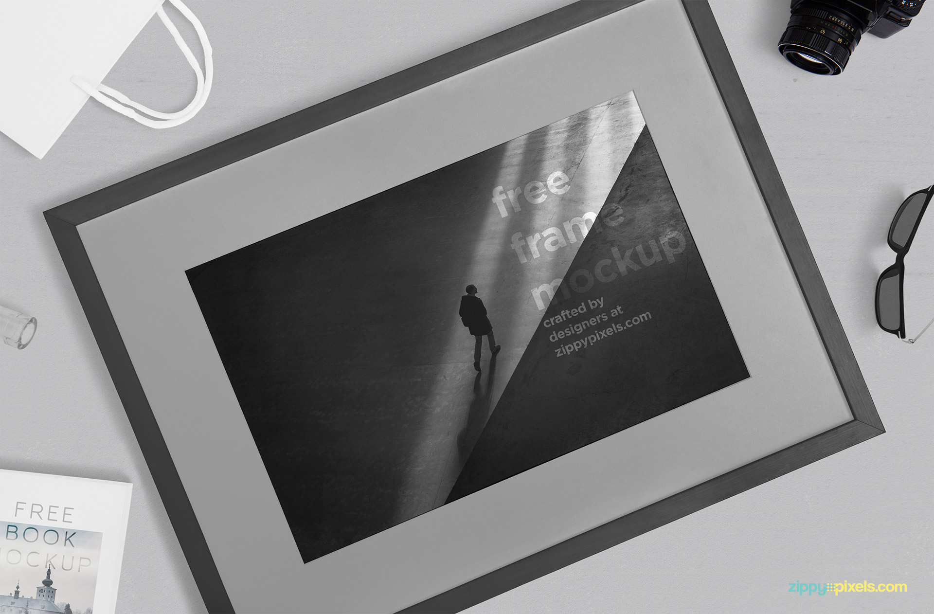 Free frame mockup by ZippyPixels.