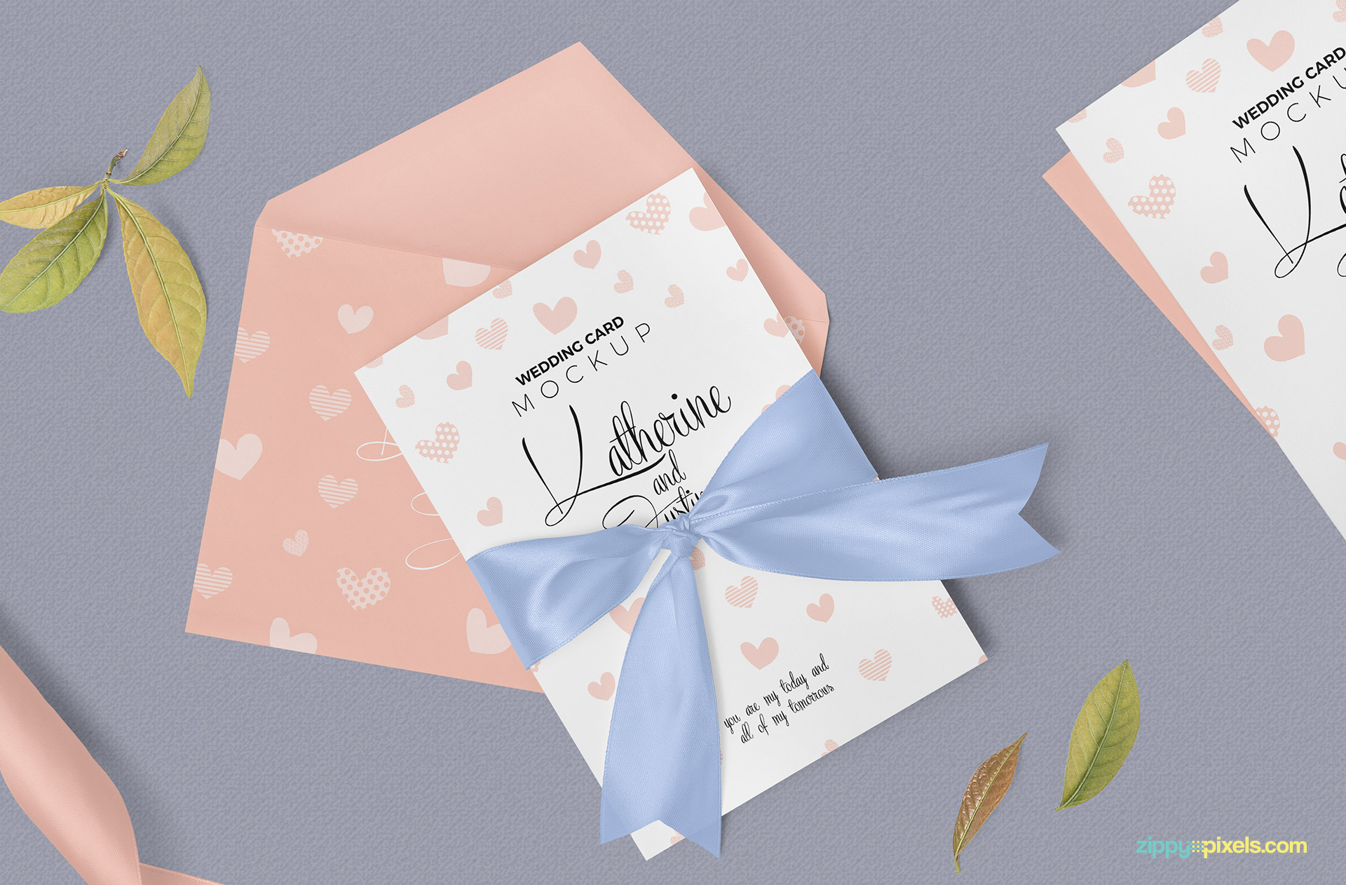 Fully customizable invitation card mockup.