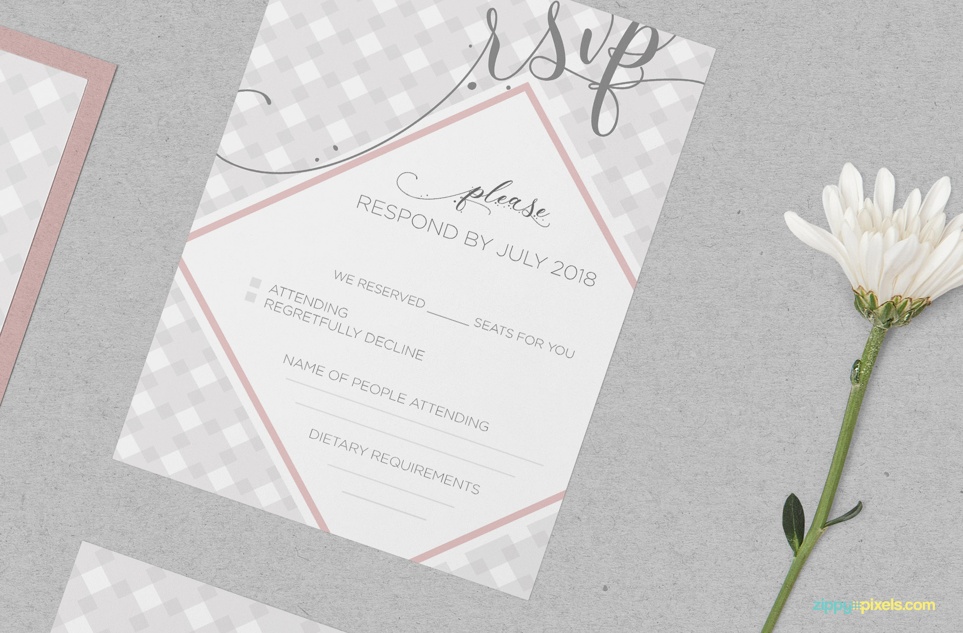 Free invitation card mockup.