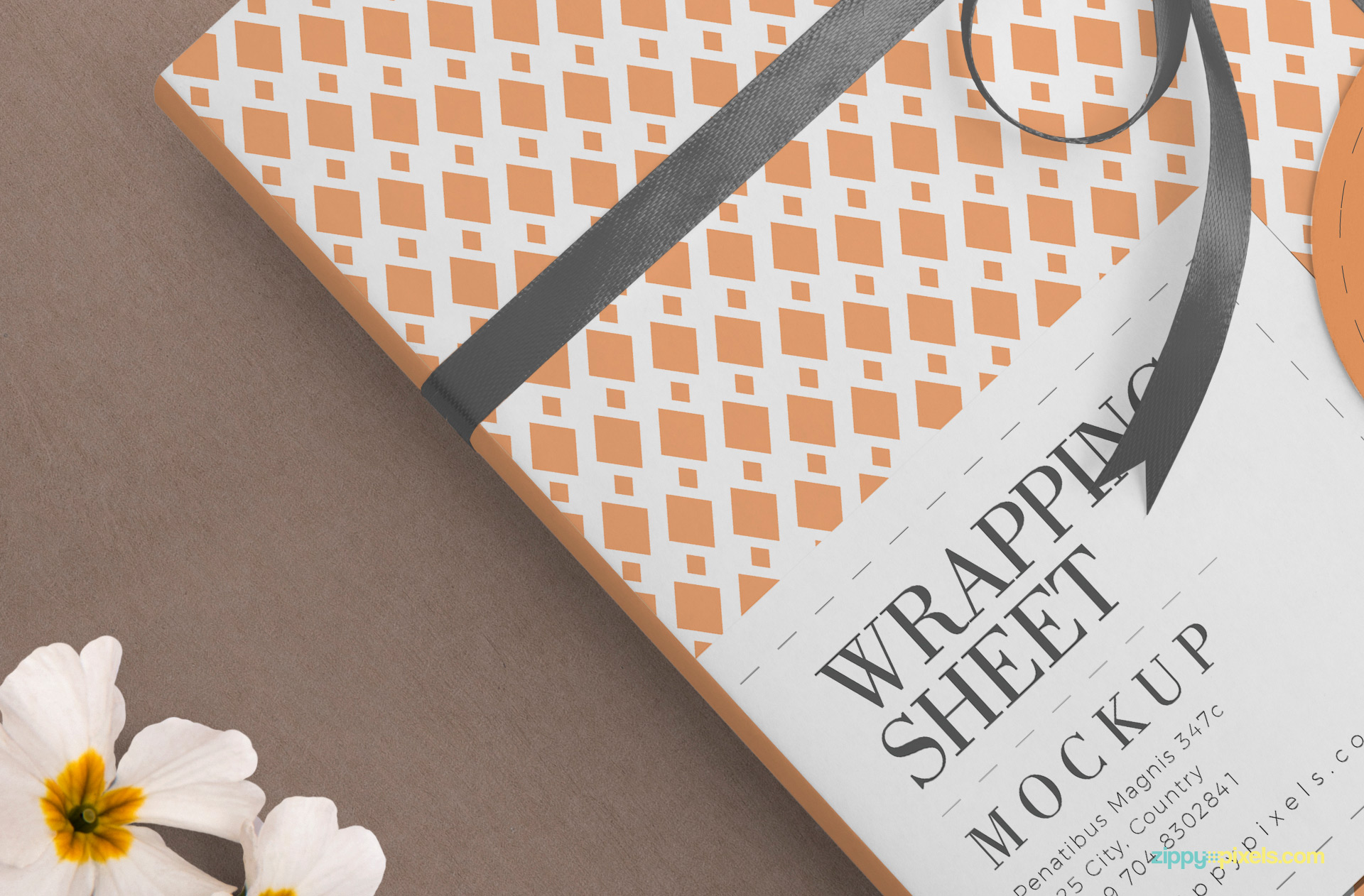 Beautiful paper textured background also included in the PSD.