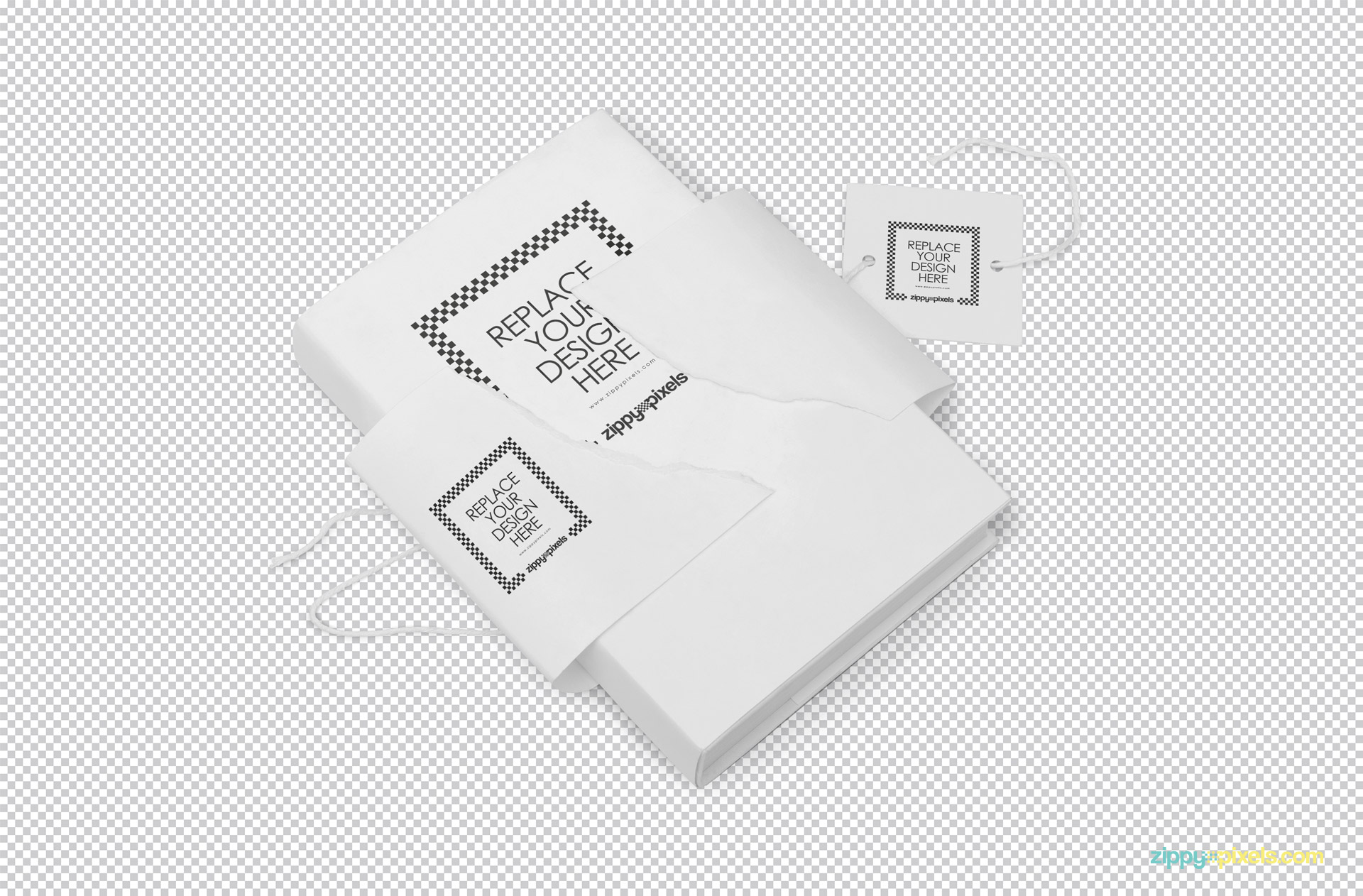 Plain white book cover isolated with greyscale background.
