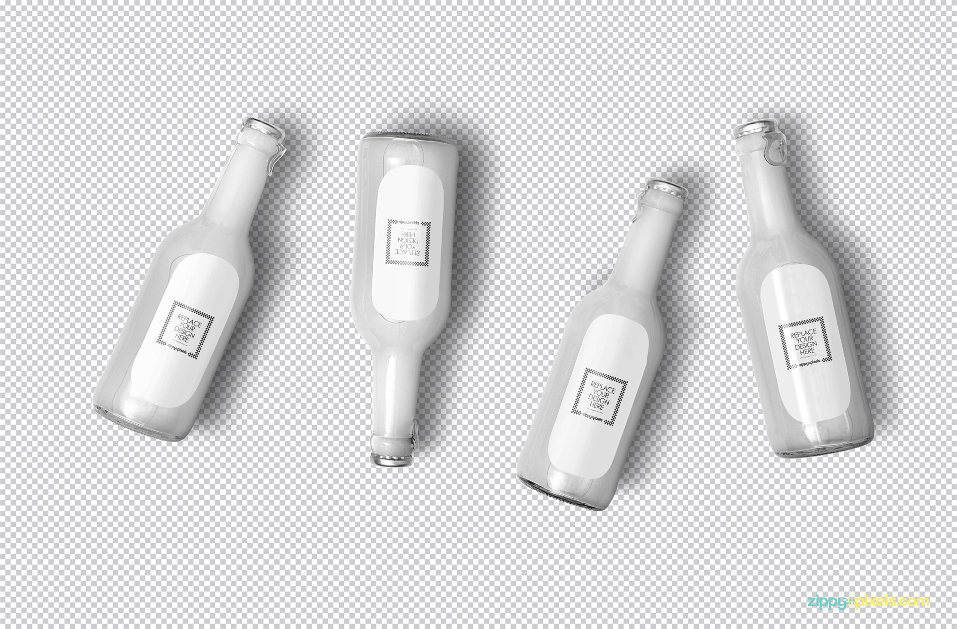 Plain white bottle mockup.