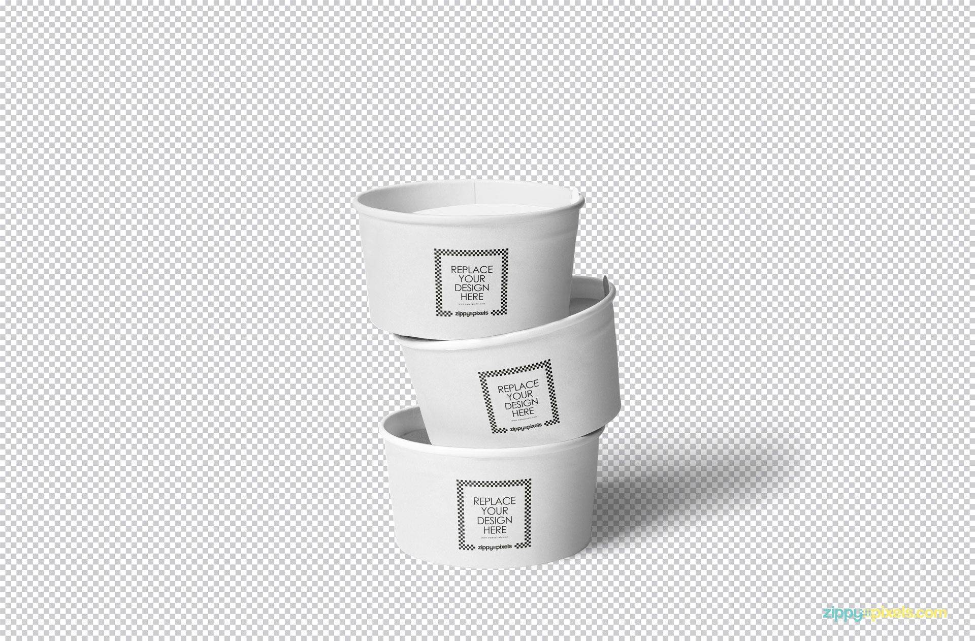 Use smart object to personalize this plain ice cream cup with your designs.