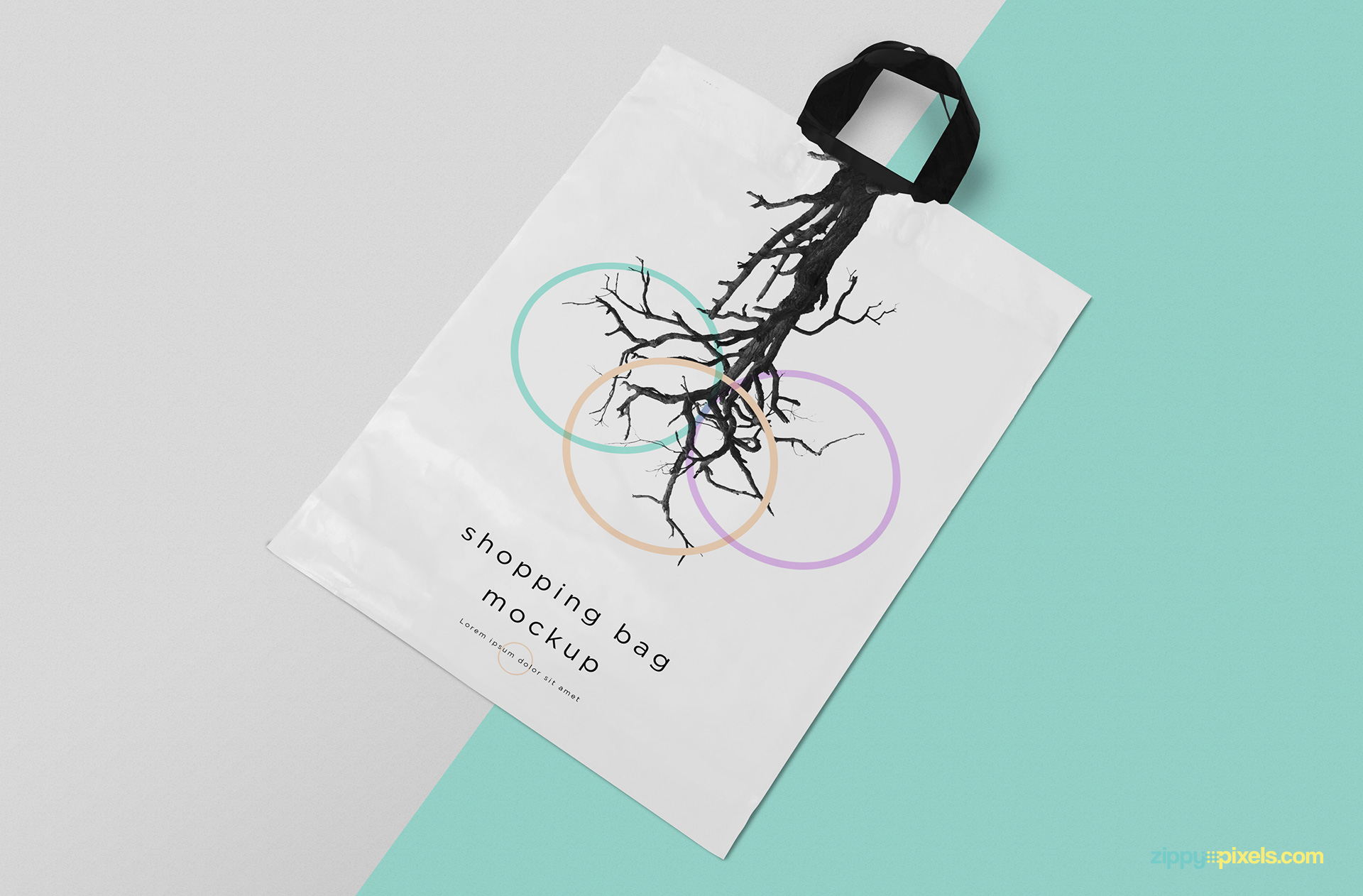 Shopping bag mockup free PSD.