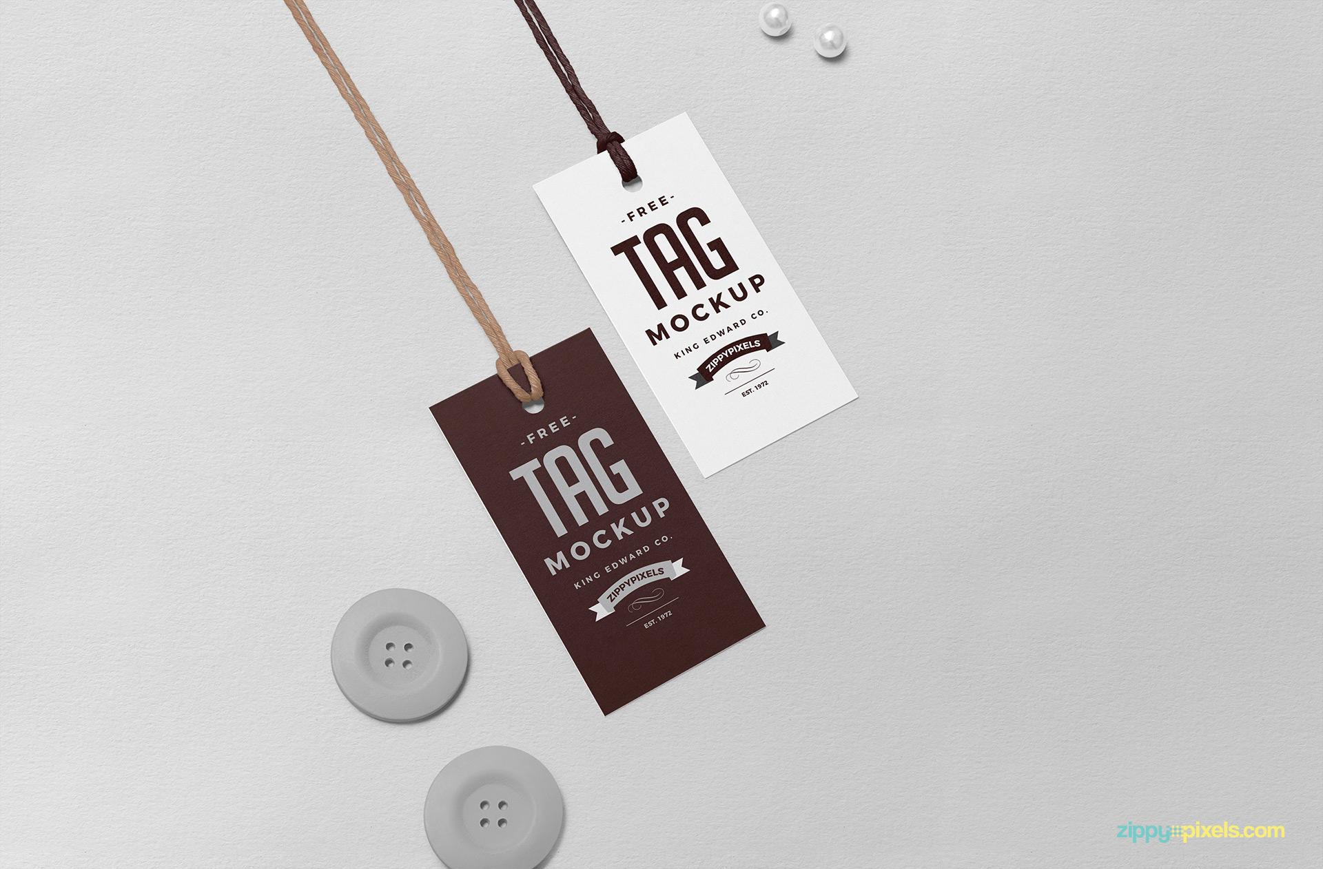 Free swing tag mockup.