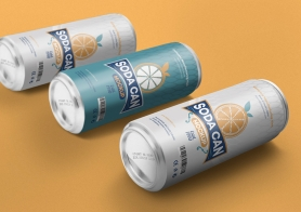 Free Beverage Can Mockup PSD