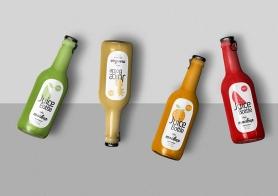 Free Awesome Juice Bottle Mockup