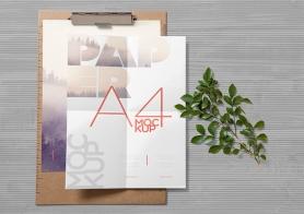 Free Realistic Paper Mockup