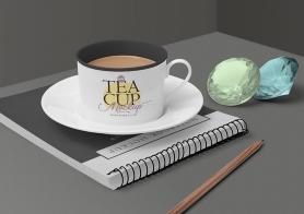 Free Tea Cup Mockup Scene