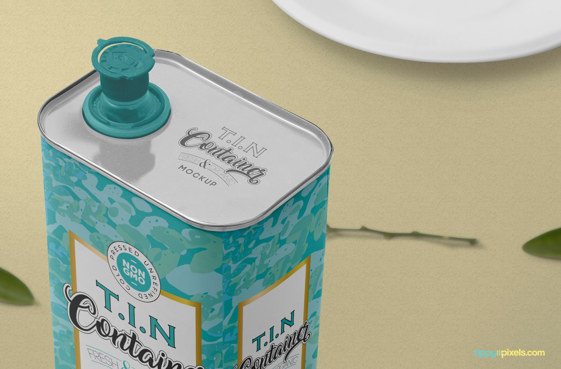 Tin can cap with color option.