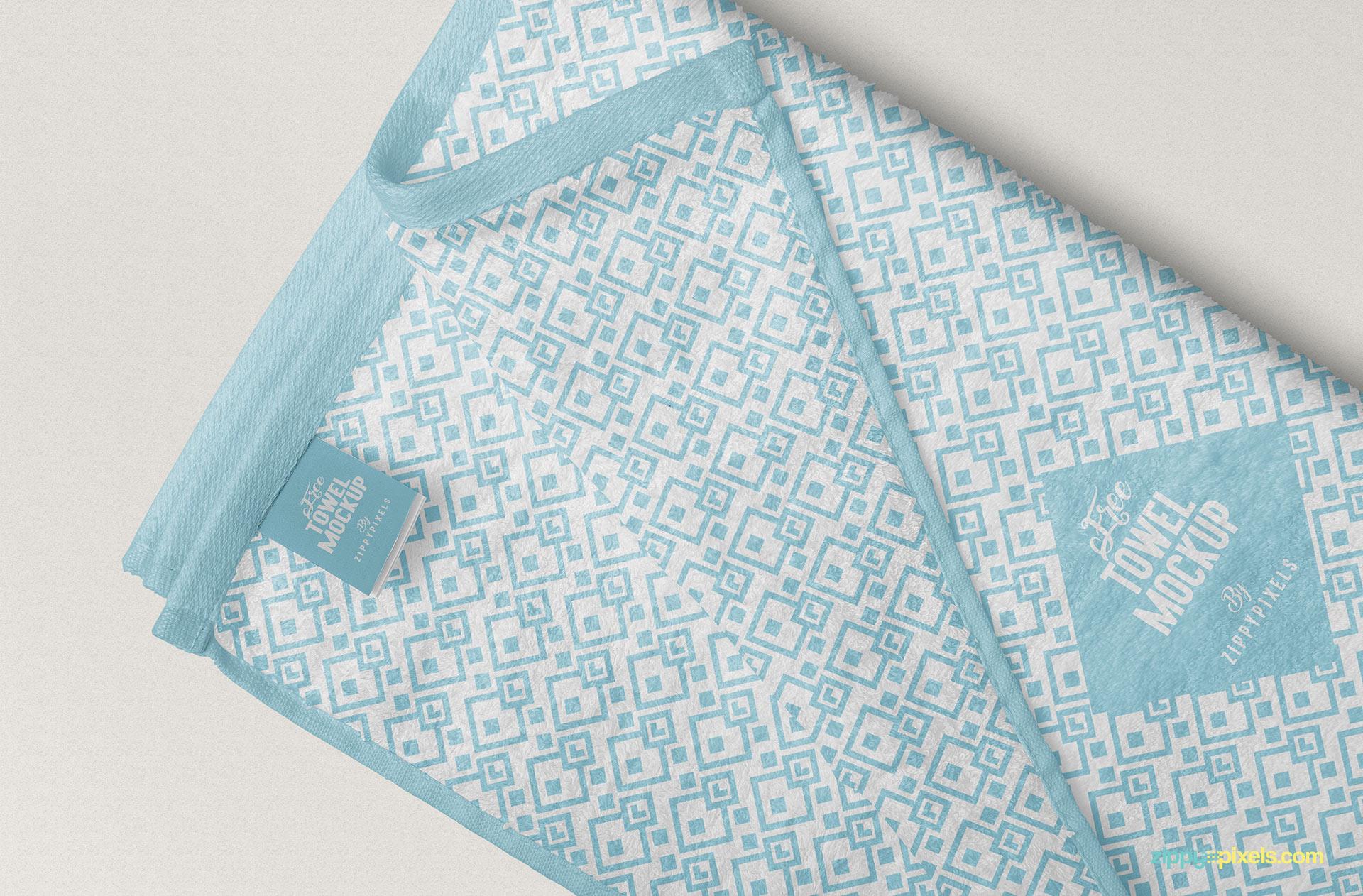 Towel mockup free PSD.