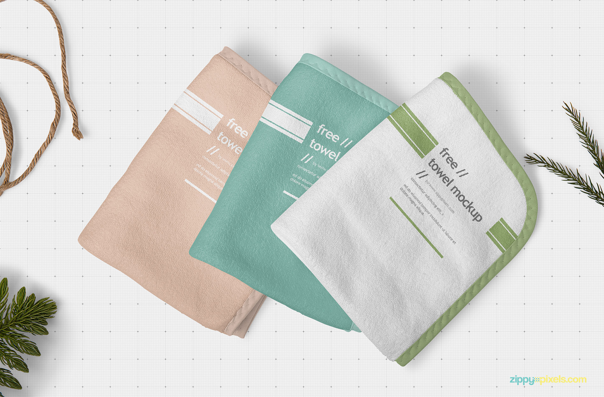 Free beautiful hand towel mockup.