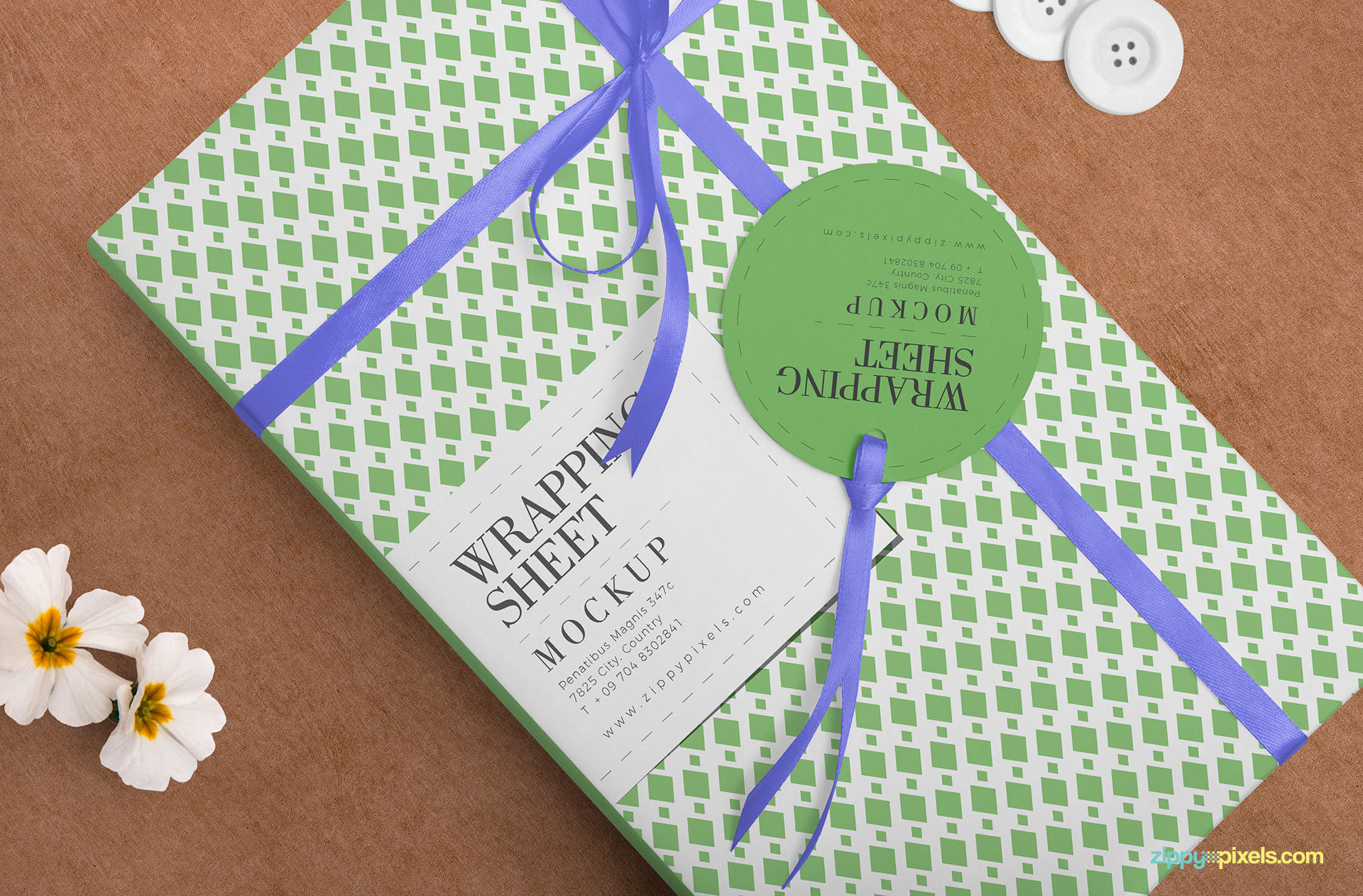 Free wrapping sheet mockup.