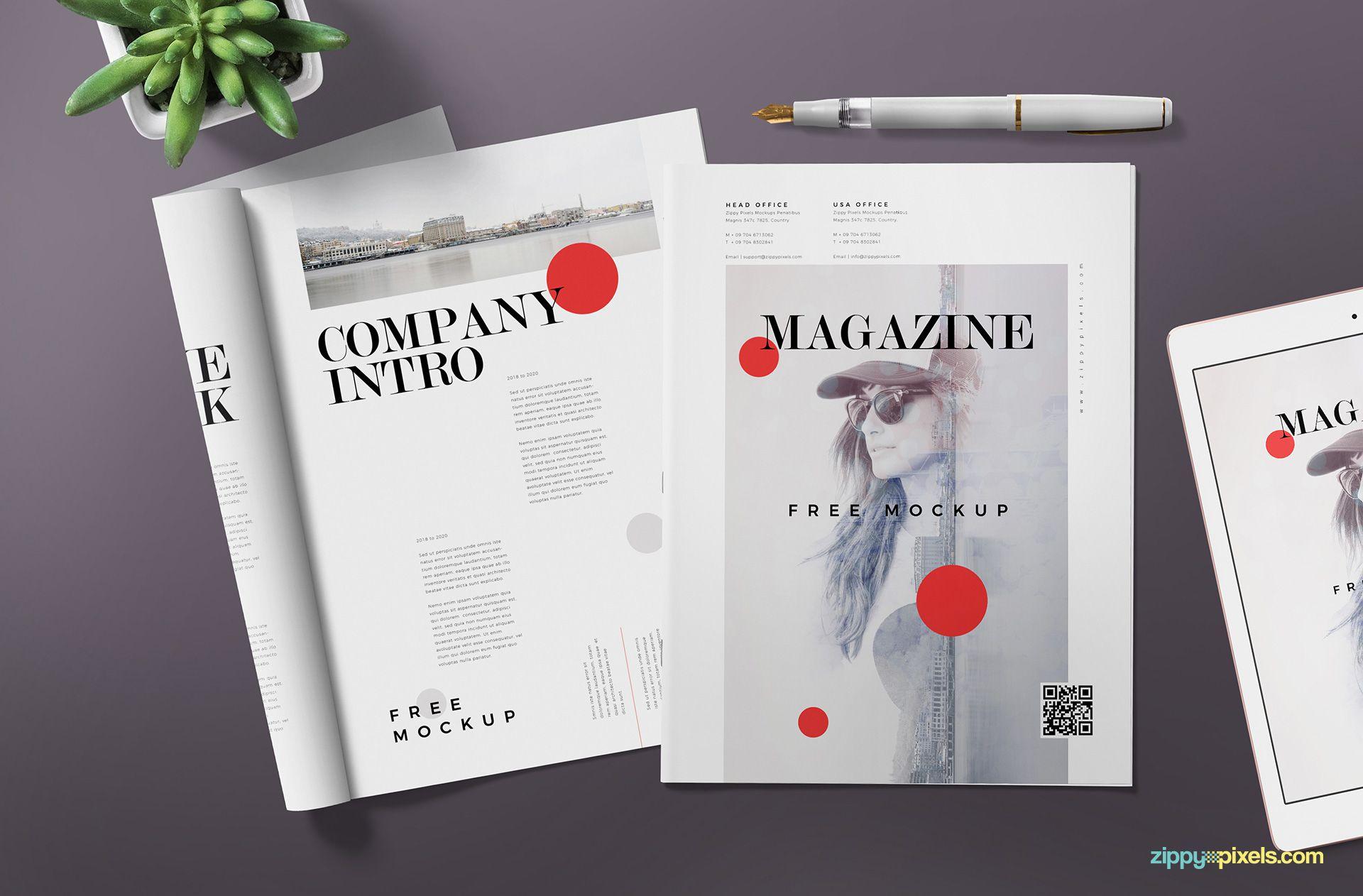 Best magazine ad mockup PSD.