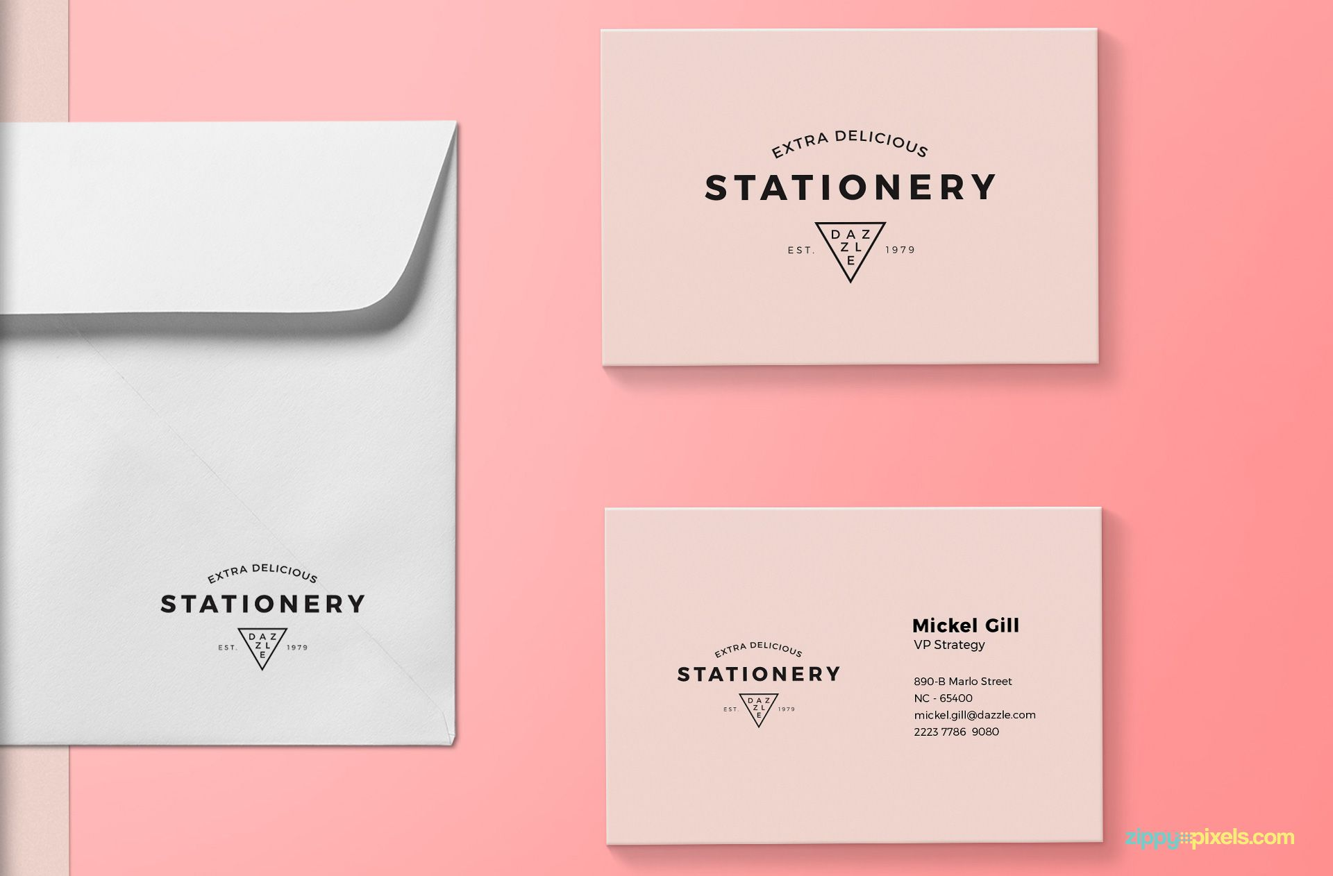 Two business cards mockup.