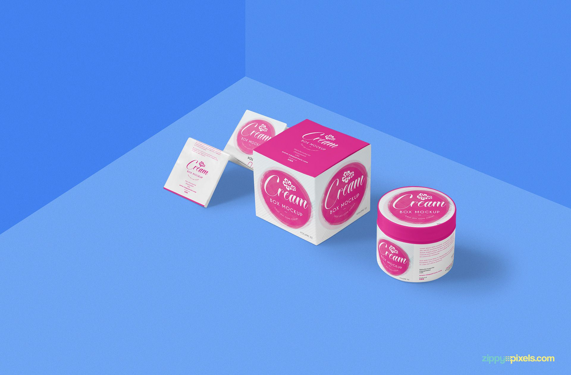 Free beautiful cosmetic cream mockup.