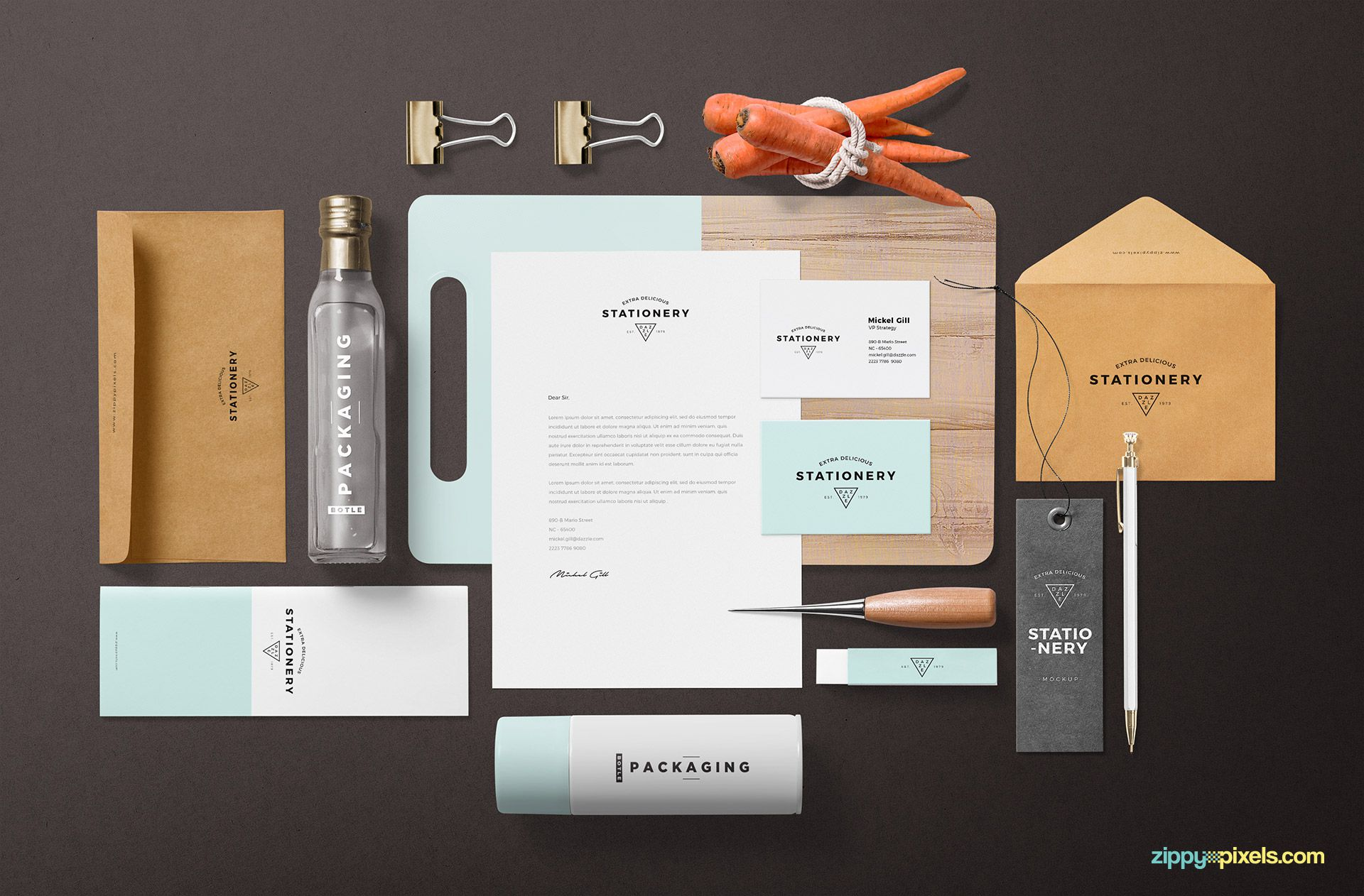 Customize the background of the branding mockup.