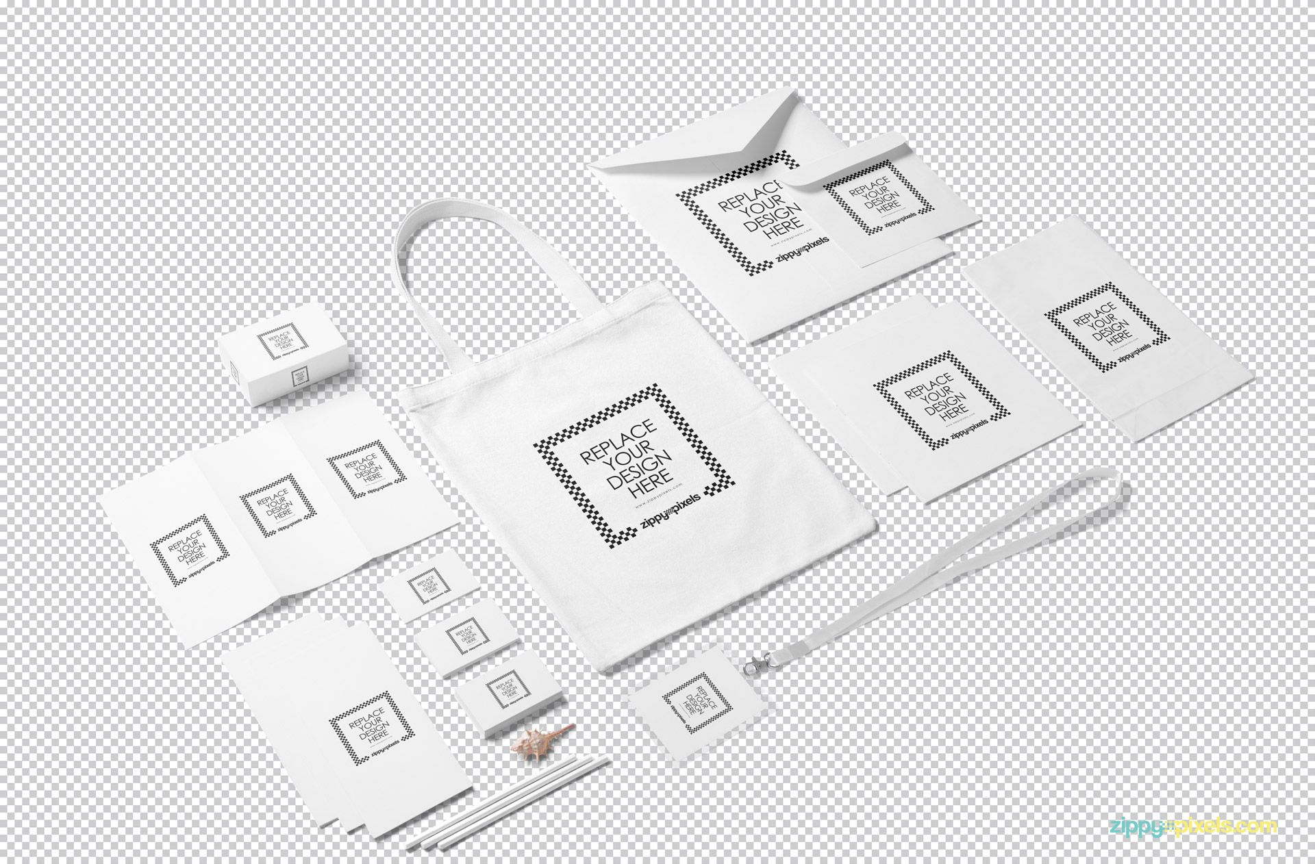 Editable PSD of the stationery mockup.