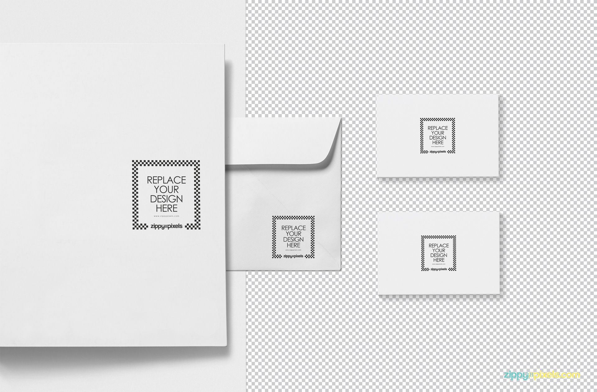 Plain editable stationery mockup PSD.