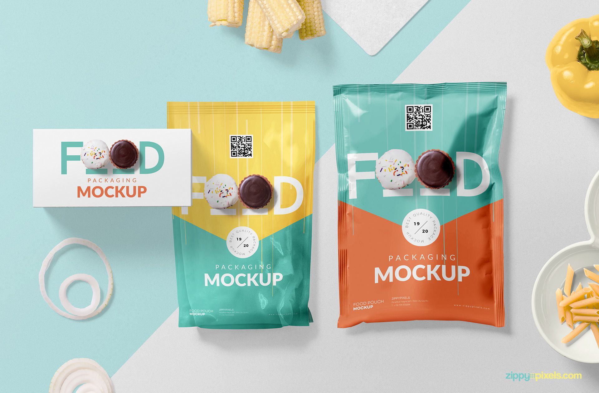 Gorgeous food packaging mockup free PSD.