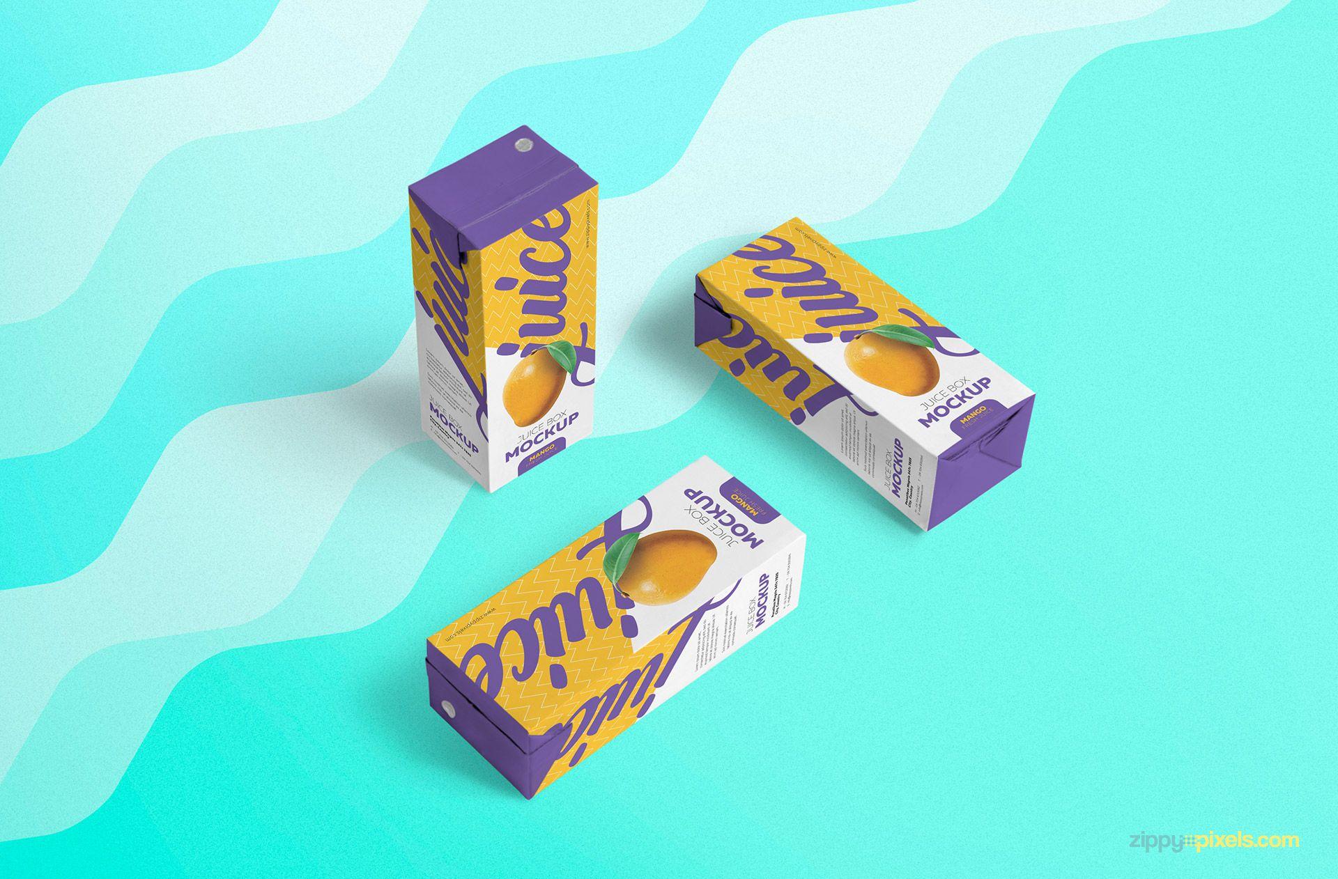 Free juice box mockup.