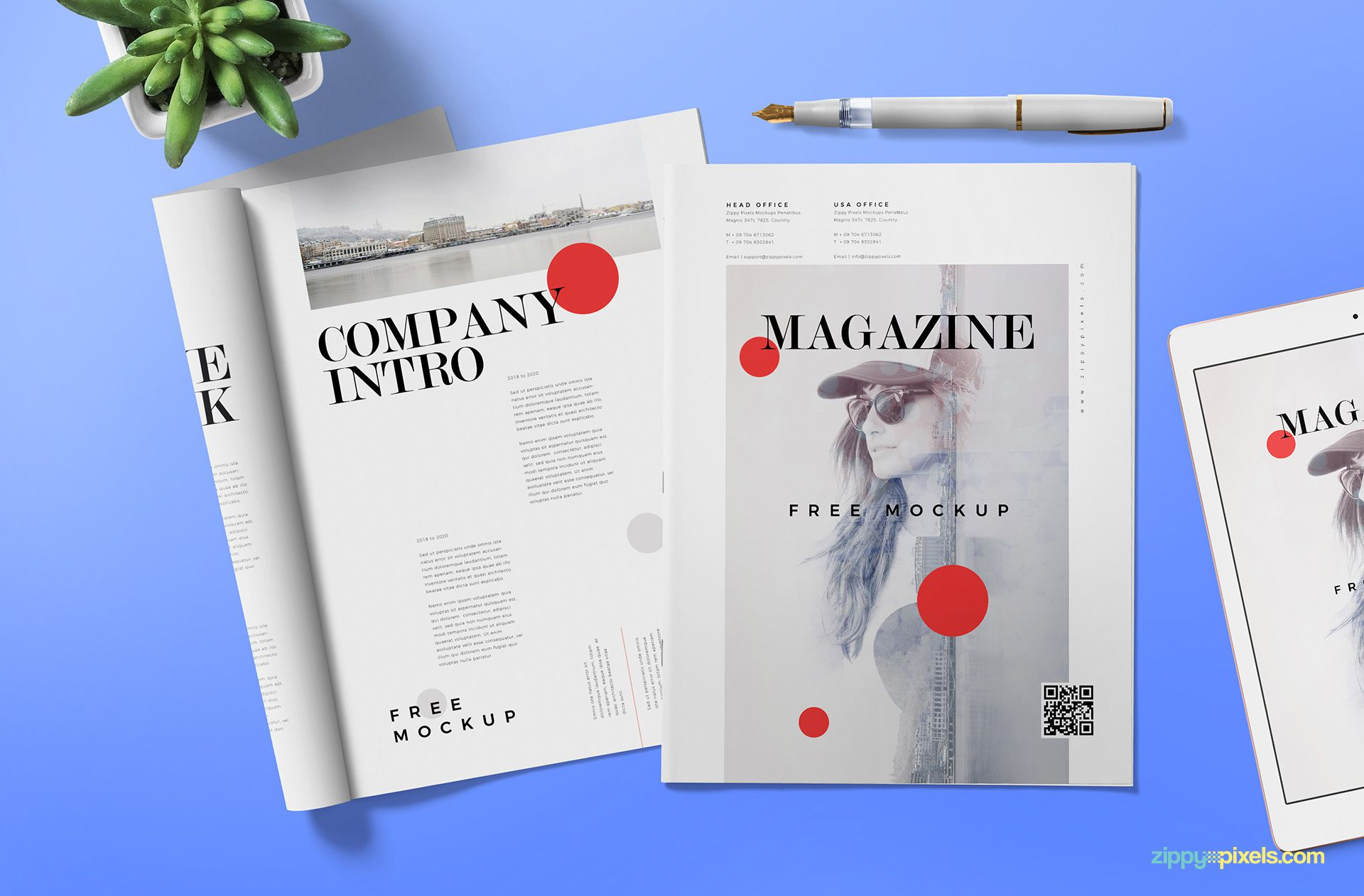 Free magazine ad mock up.