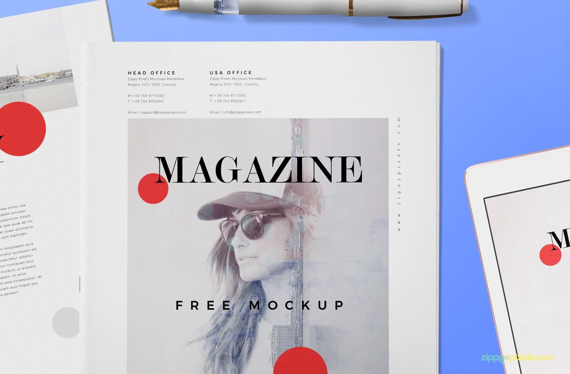 Zoom in view of magazine cover.