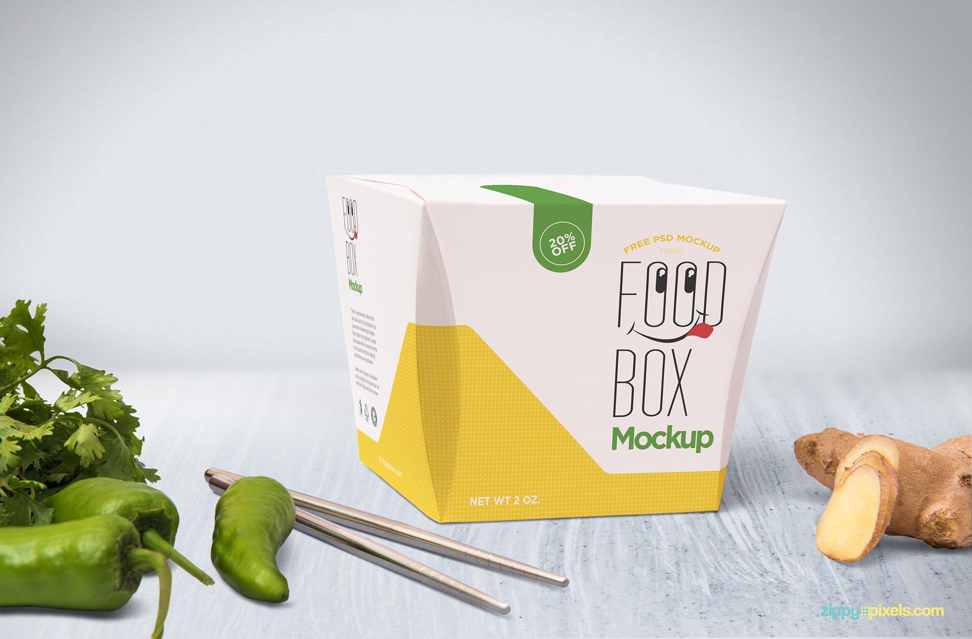 Paper box mockup.