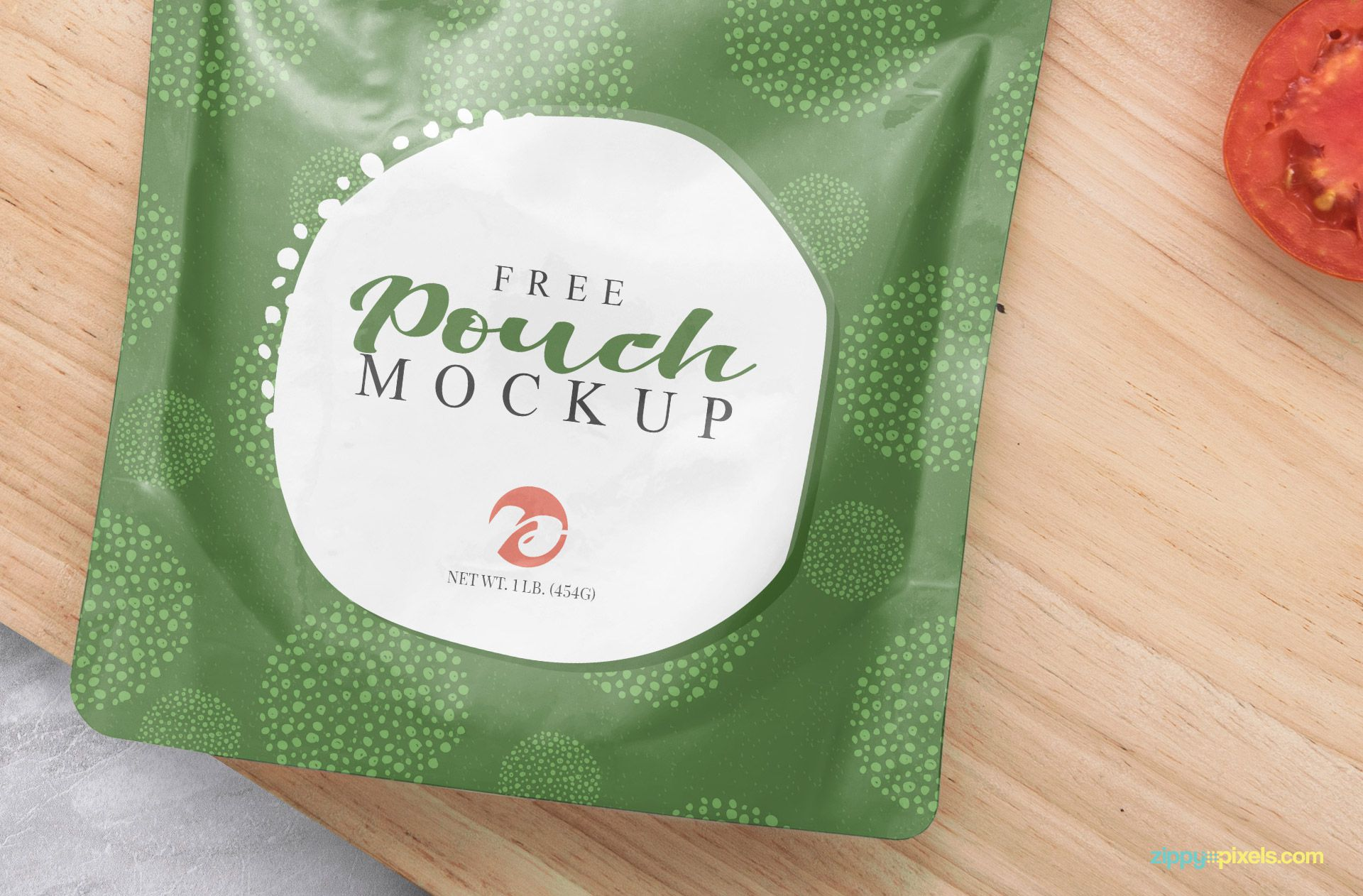 Realistic effects of the sachet mockup free PSD.