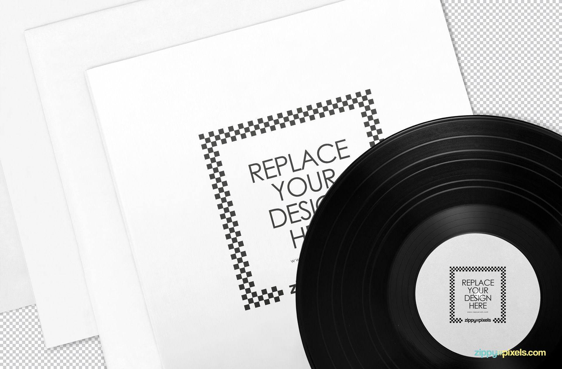 Editable record album mockup.