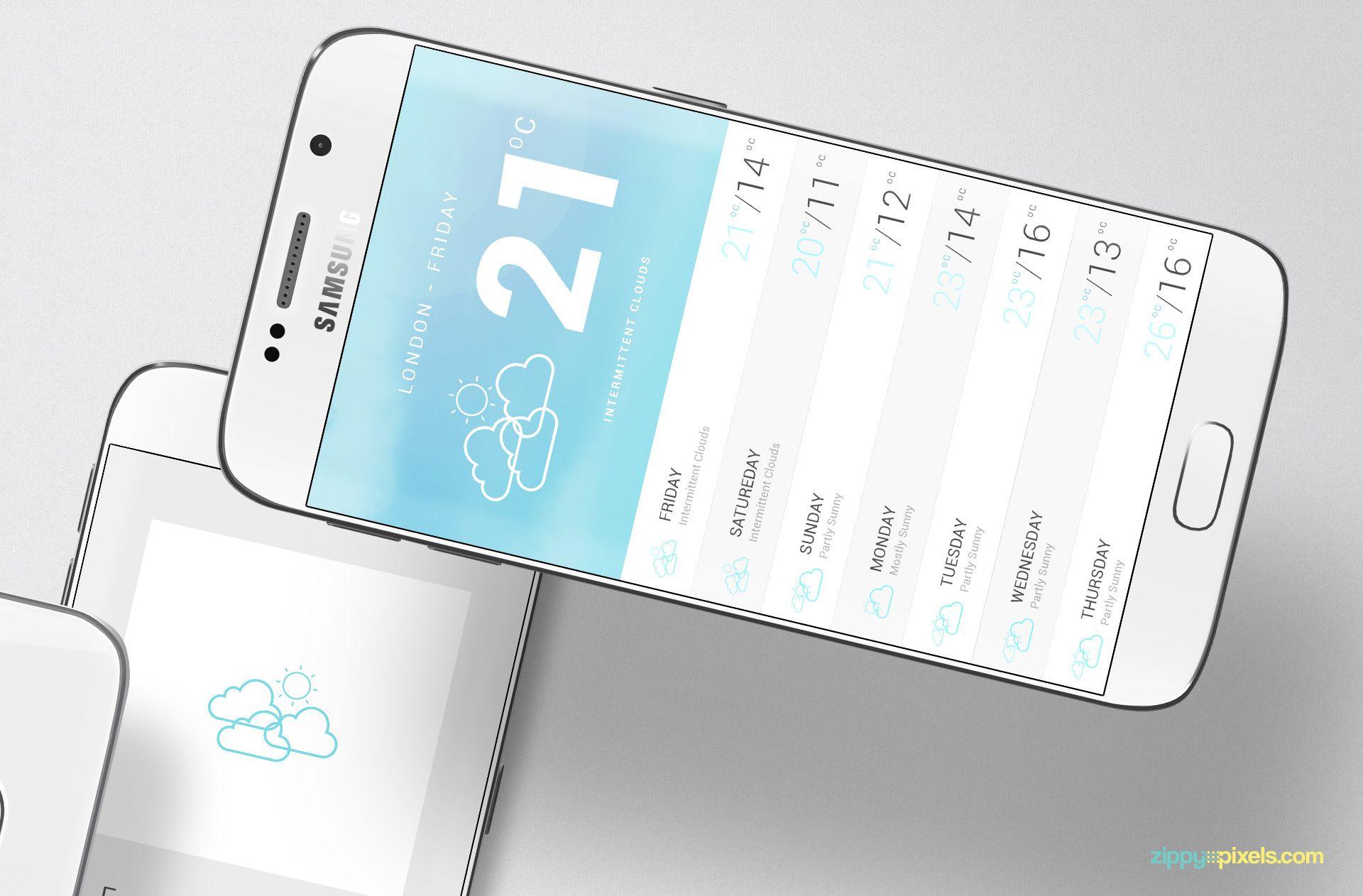 Free Android App Mockup | ZippyPixels
