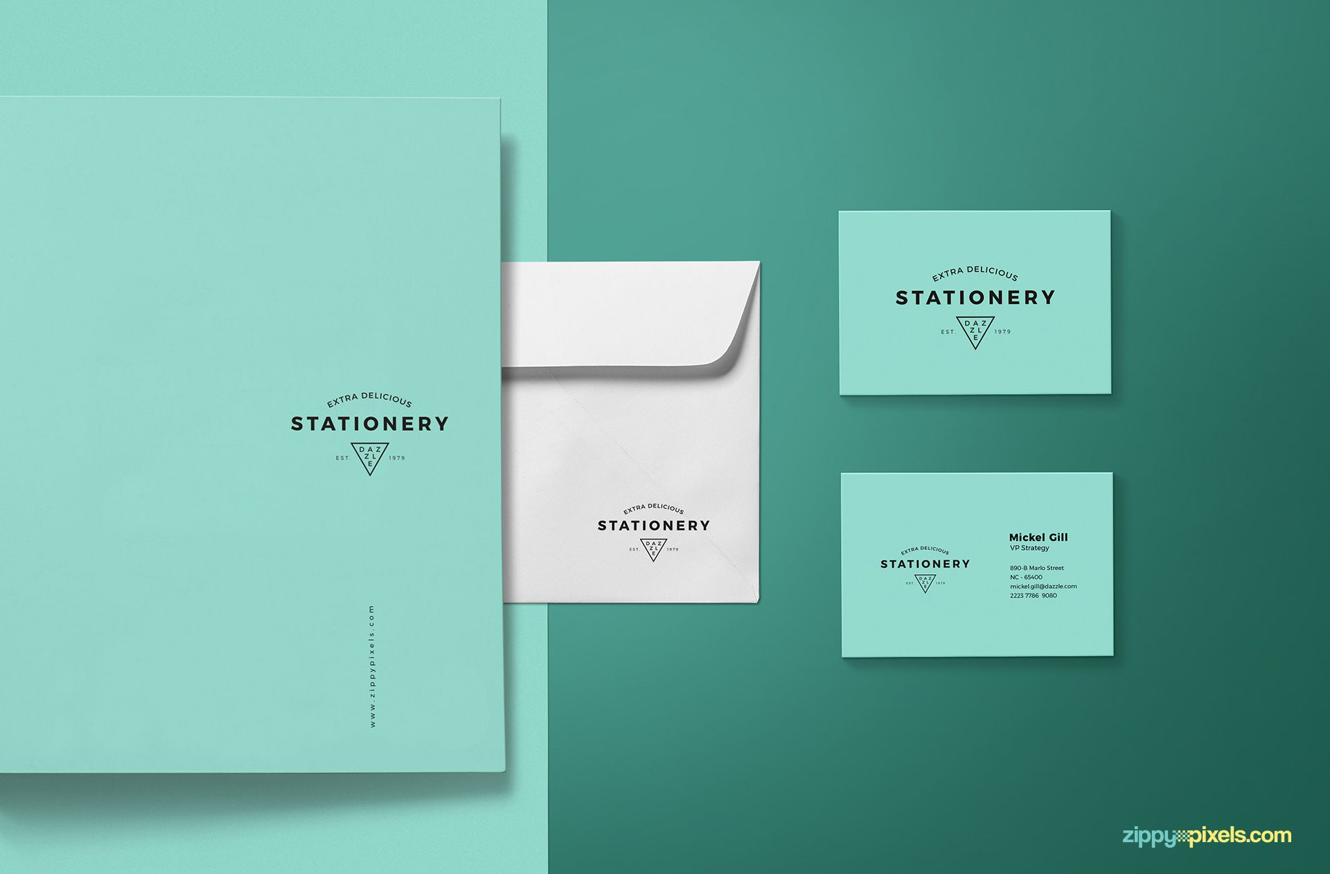 Best stationery branding mockup.