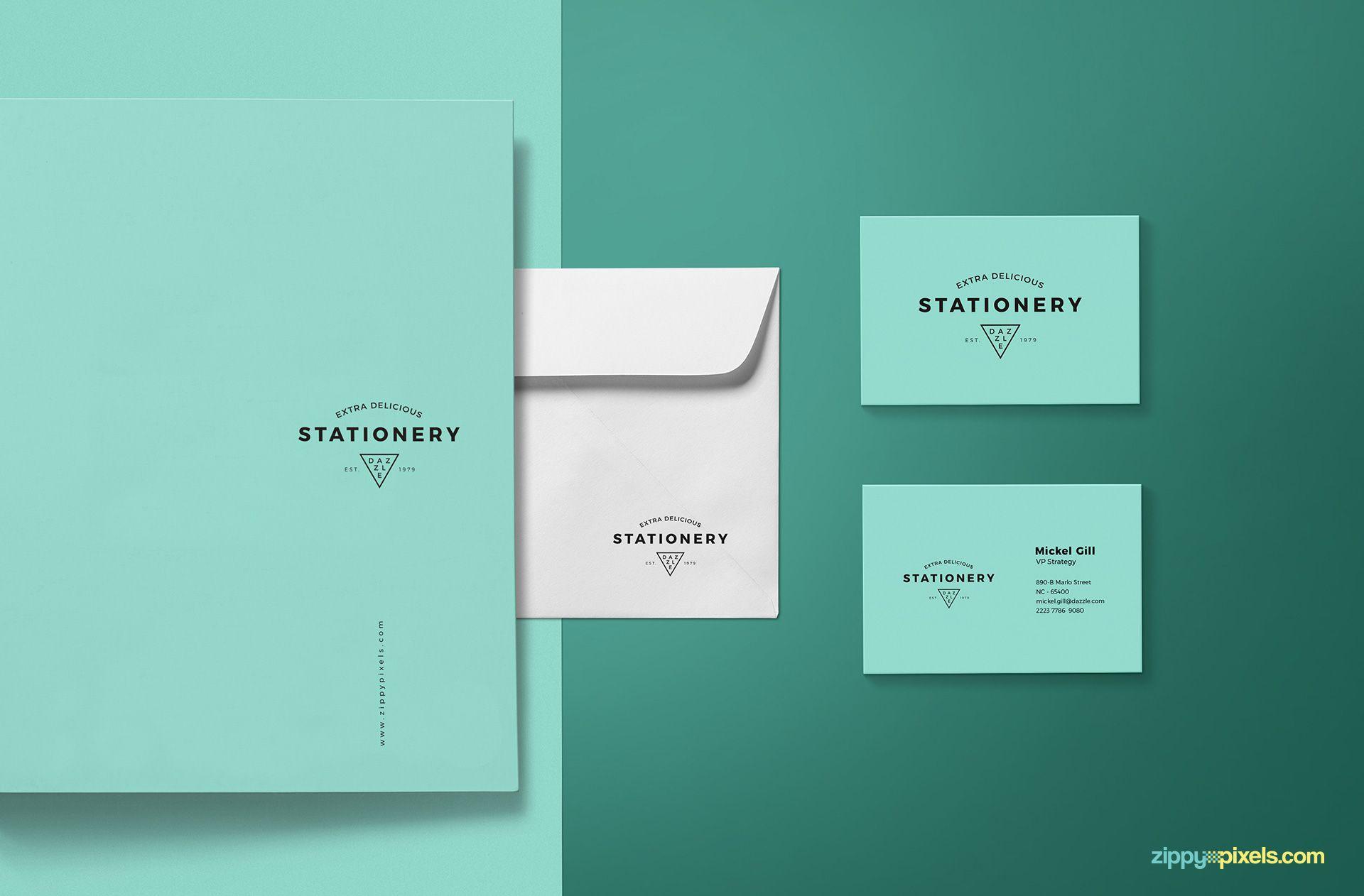Best stationery branding mockup.