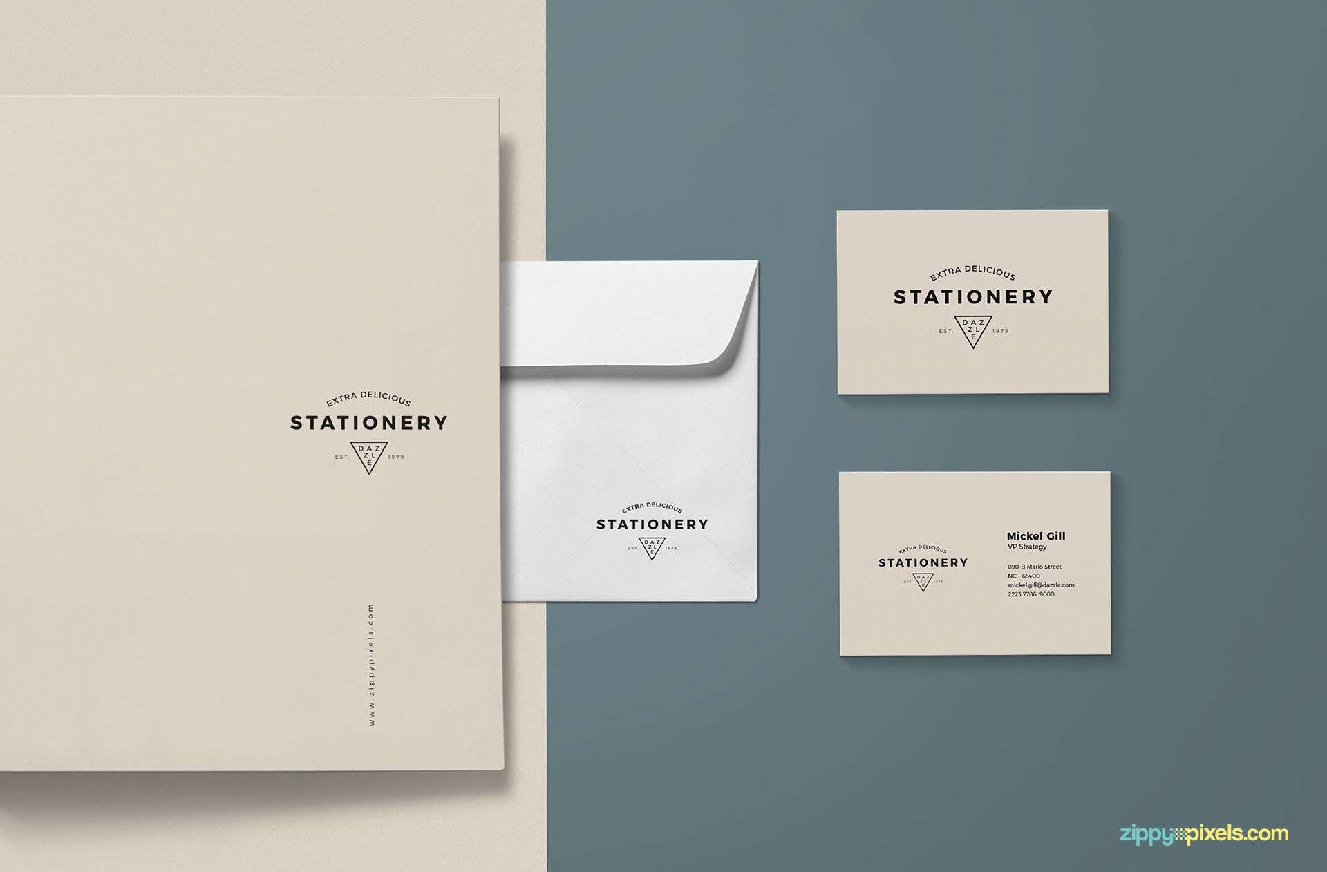 Gorgeous stationery design mockup.