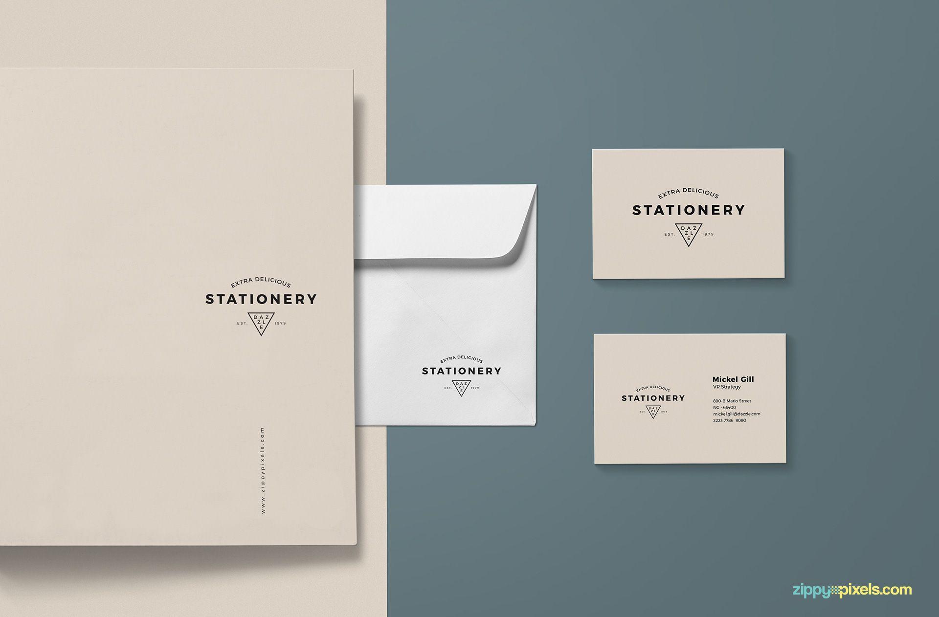 Gorgeous stationery design mockup.