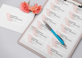 Free Wedding Address Label Mockup