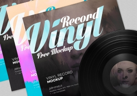 Free Record Album Mockup