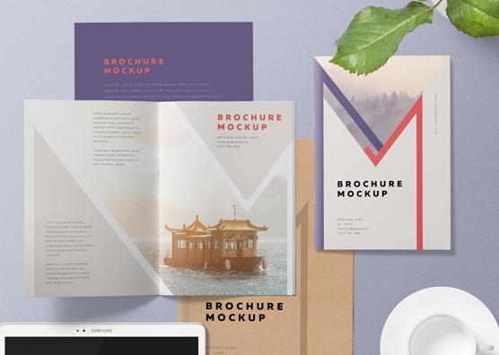free a5 brochure mockup psd zippypixels