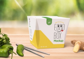 Free Realistic Lunch Box Mockup