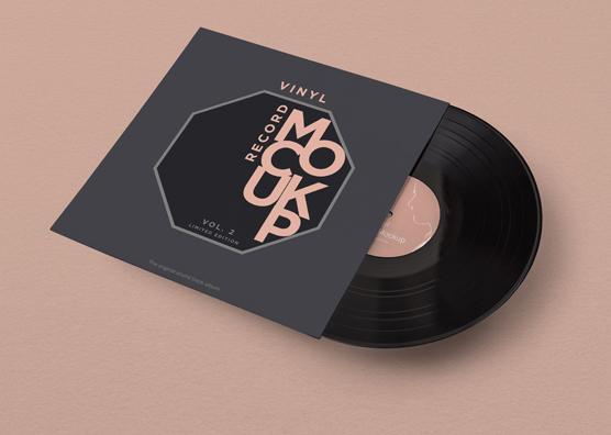 free vinyl record mockup zippypixels