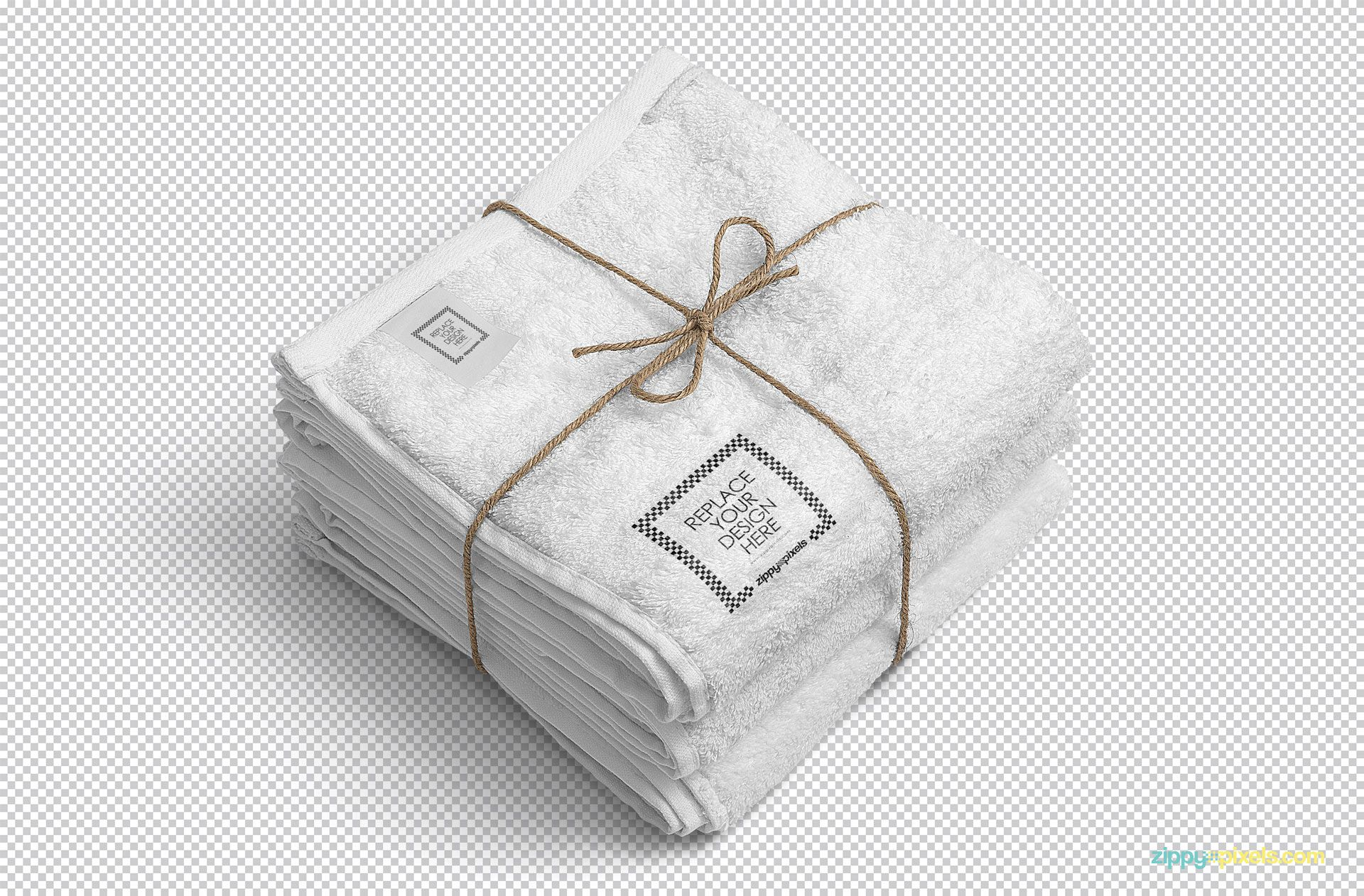 Editable white towel mockup.