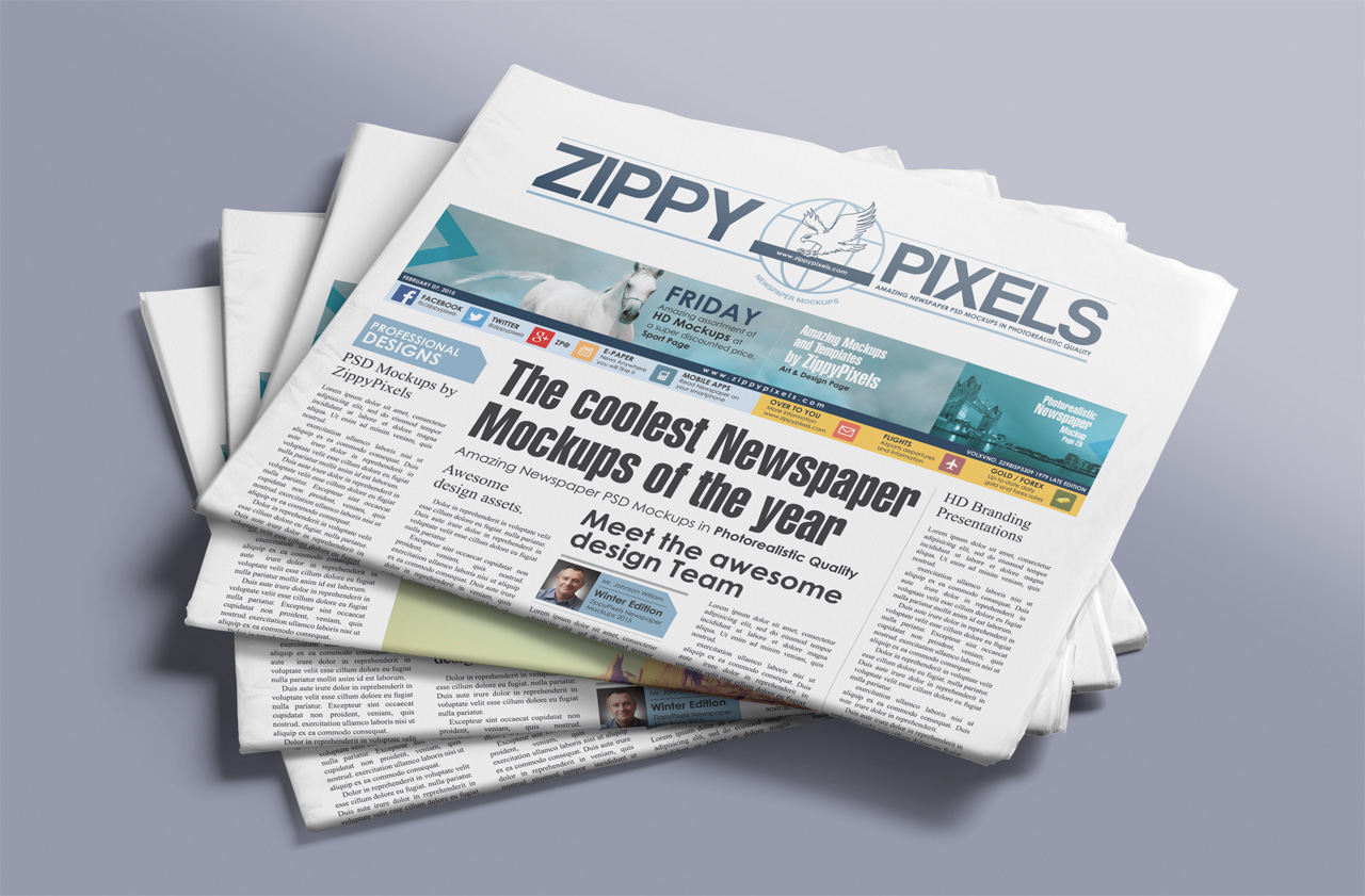Free PSD Newspaper Advert Mockup, Download Now
