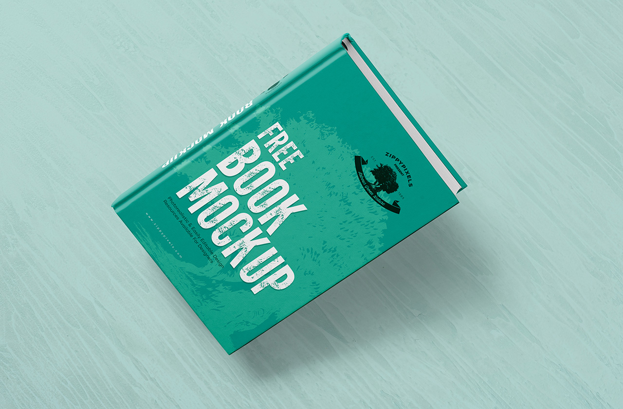 Free PSD Book Cover Design Mockup, Download Now