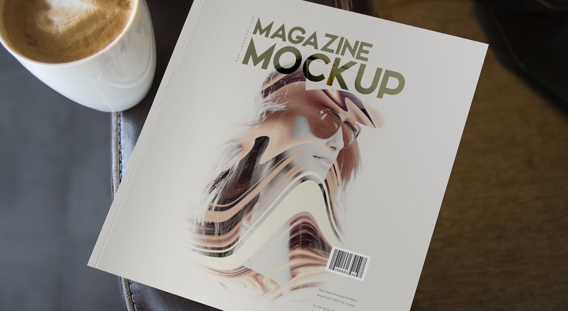 Digest Size Magazine Mockups vl 2