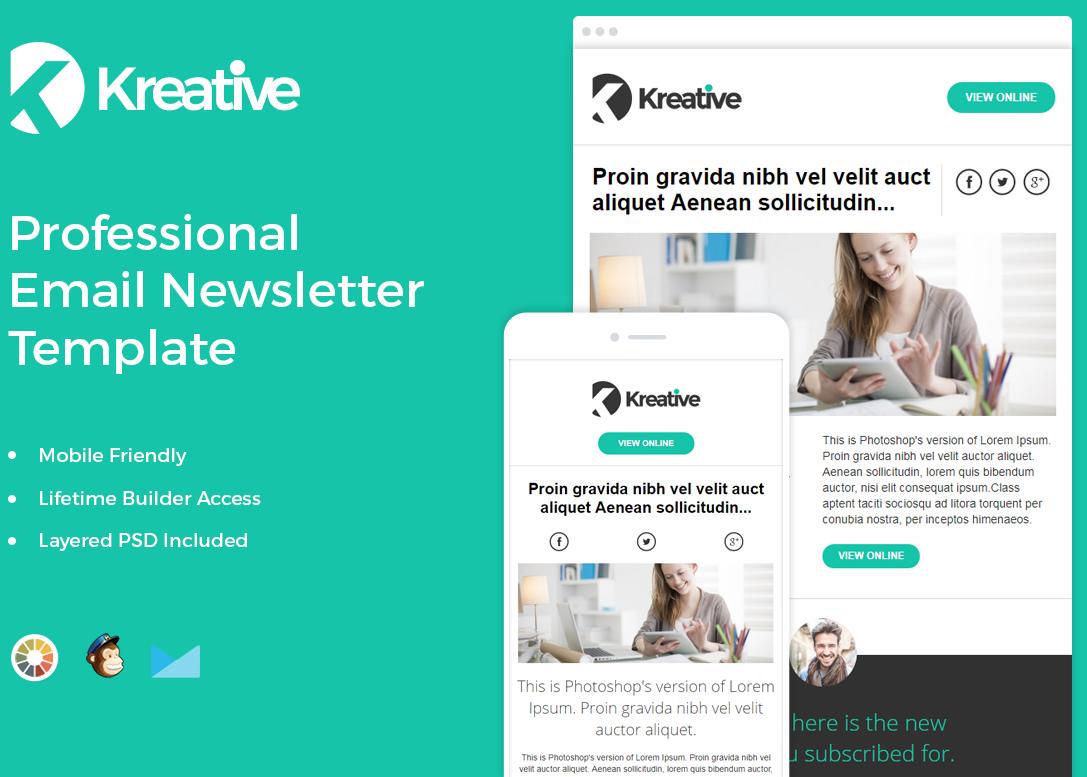 Kreative free newsletter template